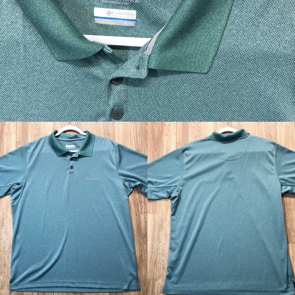 fc717a2d232 Columbia Shirts | Omni Shade Green Polo Shirt Mens Size Xl | Poshmark
